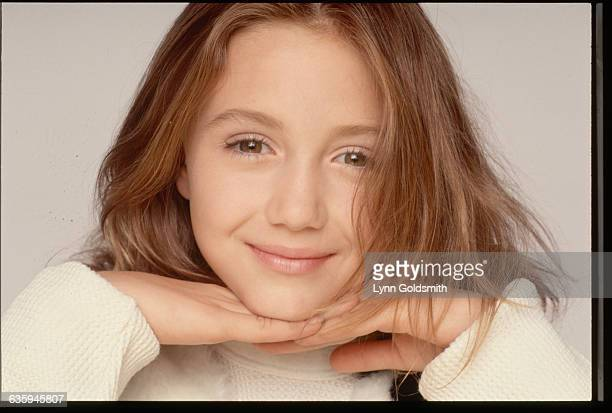 Studio portrait of child actress Madeline Zima from the television program The Nanny