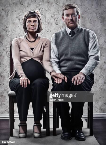 Studio portrait of couple