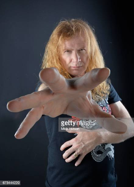 Studio portrait of Dave Mustaine from Megadeth London 13th November 2015