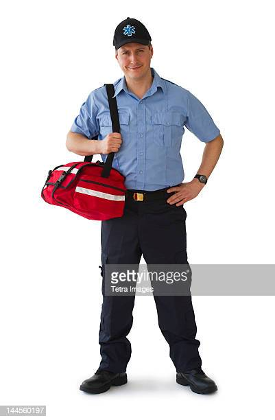 Studio portrait of emergency medical technician
