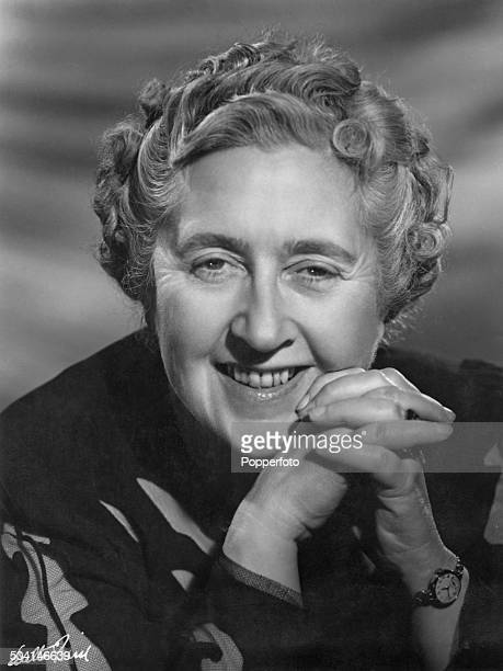 A studio portrait of English crime novelist short story writer and playwright Agatha Christie circa 1960 Photograph by Walter Bird