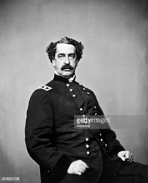 Studio portrait of General Abner Doubleday a Union officer during the American Civil War credited with originating the game of baseball