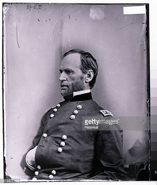 Studio portrait of General William Tecumseh Sherman a distinguished Federal officer during the American Civil War