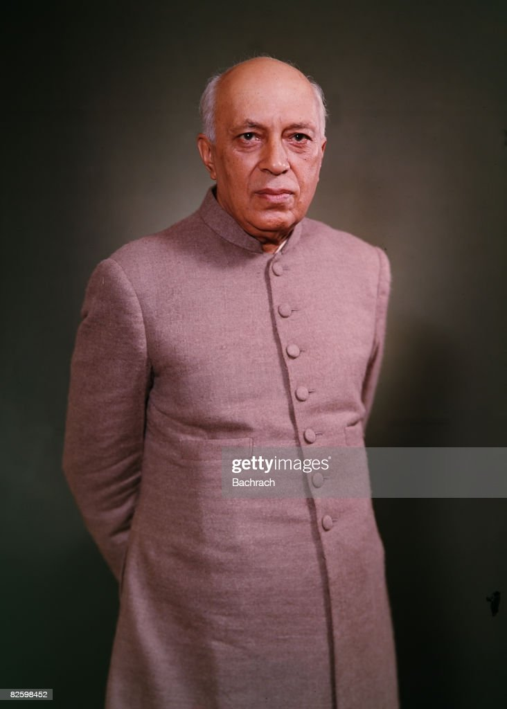 Portrait Of Prime Minister Jawaharlal Nehru : News Photo