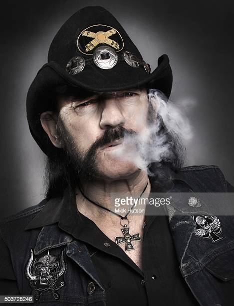 Studio portrait of Lemmy Kilmister of hard rock band Motorhead United Kingdom 7th November 2010