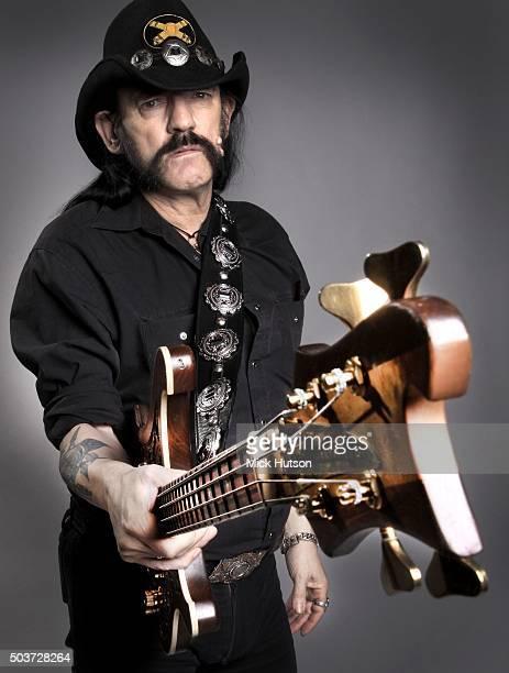 Studio portrait of Lemmy Kilmister of hard rock band Motorhead, United Kingdom, 7th November 2010.