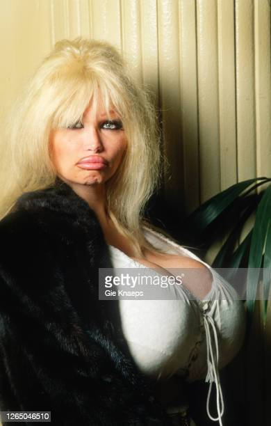 Studio portrait of Lolo Ferrari Astoria Hotel Brussels Belgium 20 March 1996