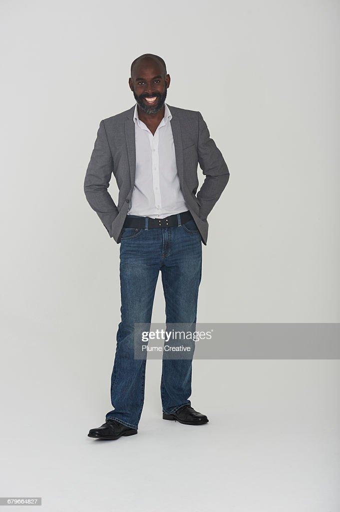 Studio portrait of man : Stock Photo