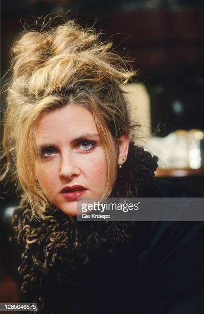 Studio portrait of Maria McKee, Sheraton Hotel, Brussels, Belgium, 25 January 1996.