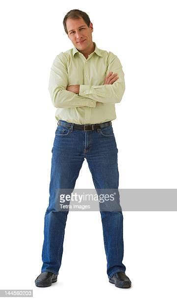 Studio portrait of mature man
