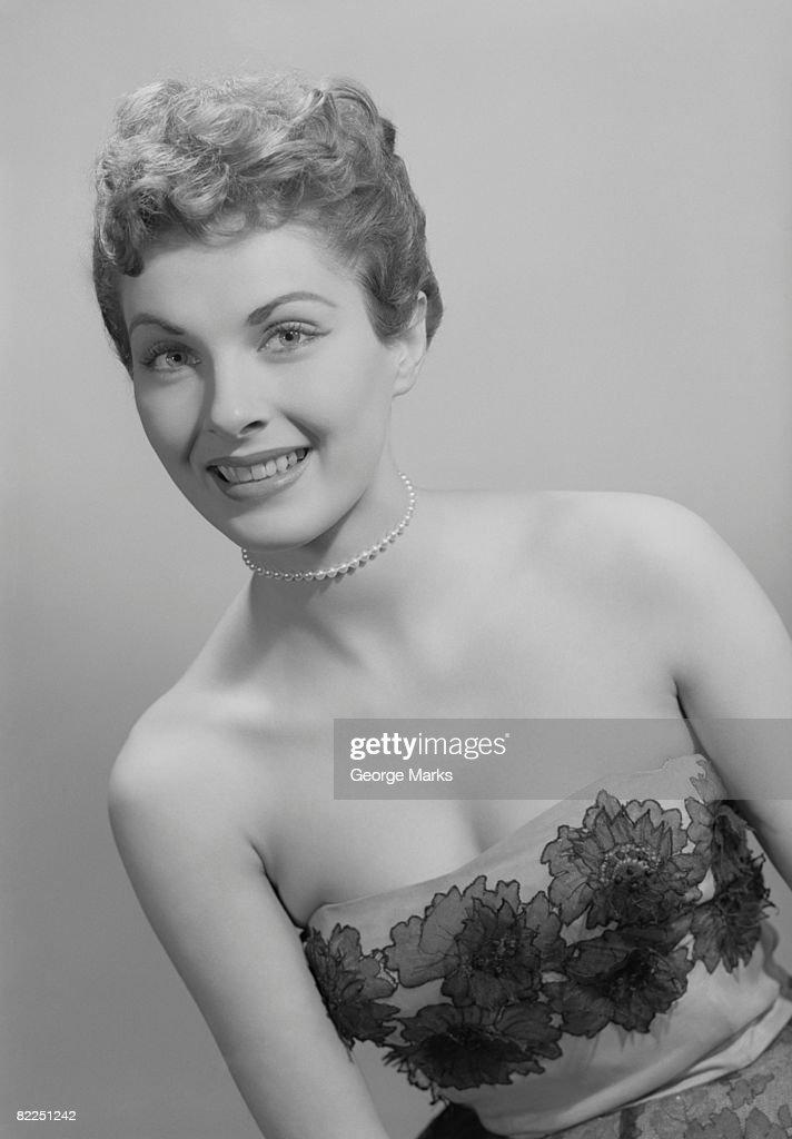 Studio portrait of mid adult woman : Stock Photo