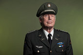 Studio portrait of military General in formal uniform
