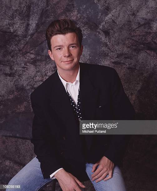 Studio portrait of Rick Astley London 1987