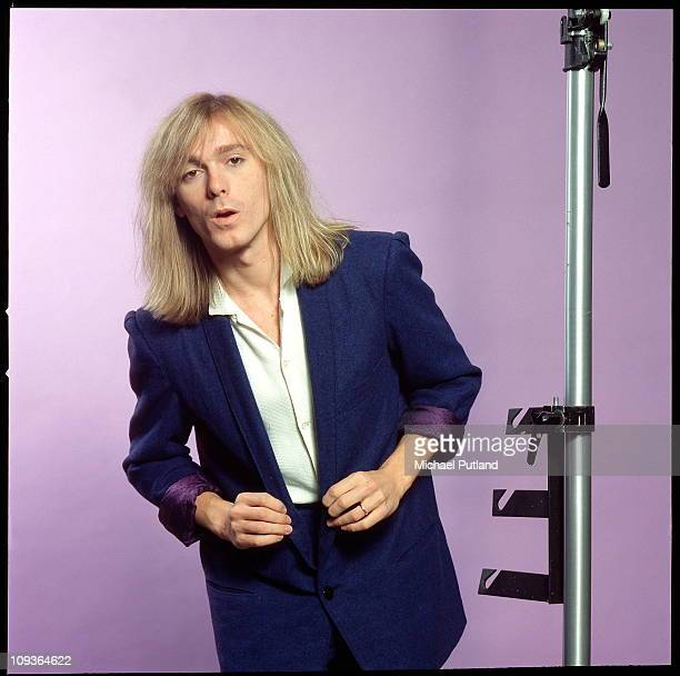 A studio portrait of rock band Cheap Trick New York November 1980 Robin Zander