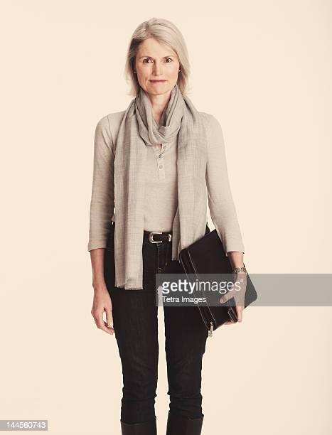 Studio portrait of senior businesswoman