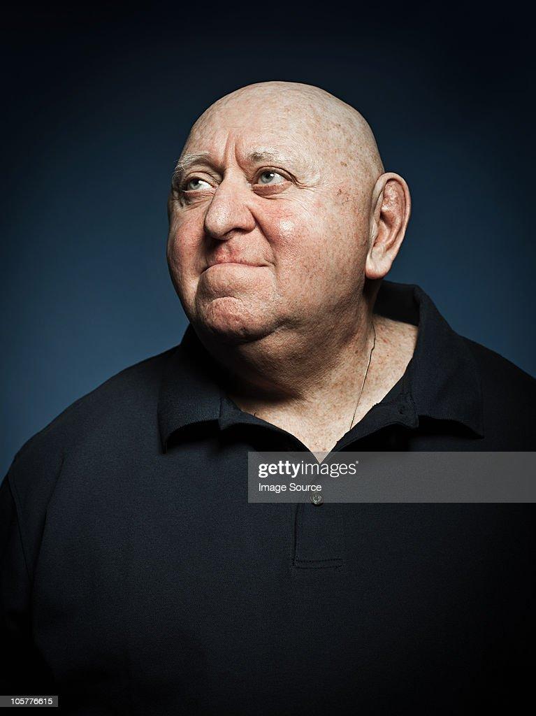 Studio portrait of senior man : Stock Photo