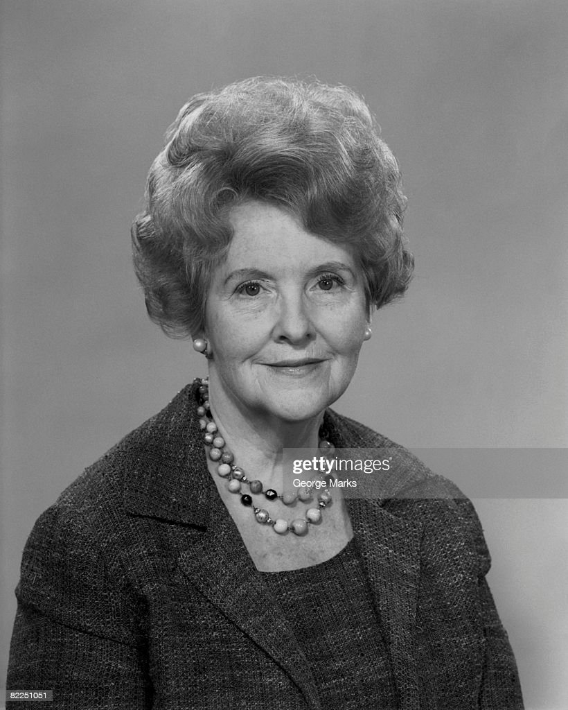 Studio portrait of senior woman : Stock Photo