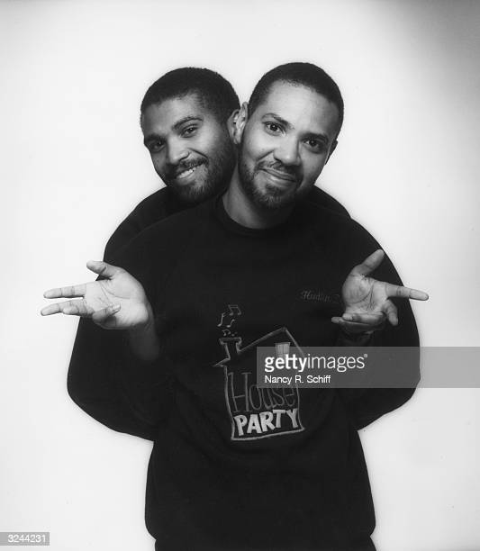 Studio portrait of siblings Reginald and Warrington Hudlin American movie producing directing and writing team commonly referred to as the Hudlin...