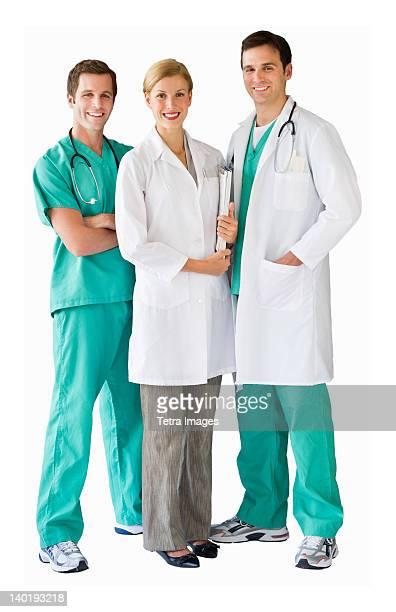 Studio portrait of team of doctors