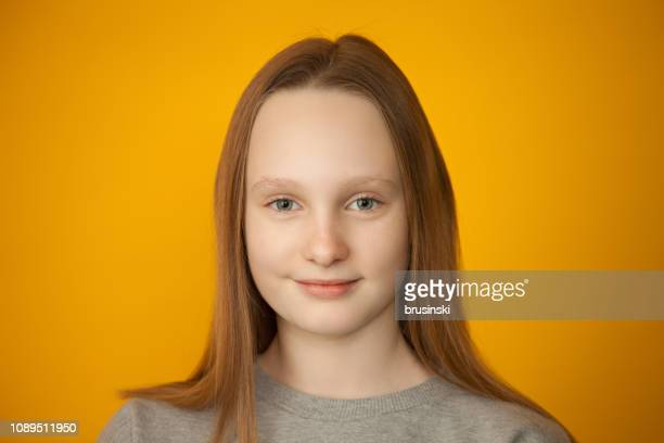 studio portrait of teen girl - grey eyes stock pictures, royalty-free photos & images