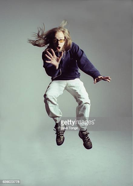 Studio portrait of Tom Rowlands from electronic music duo The Chemical Brothers United Kingdom 1997
