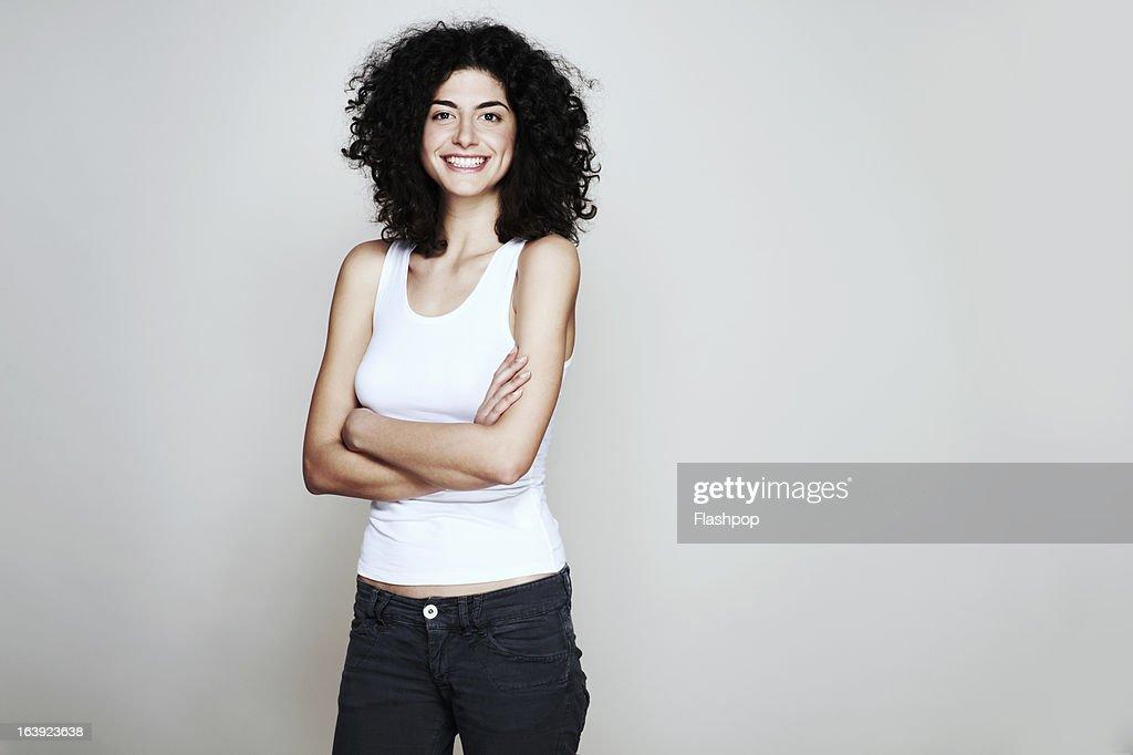 Studio portrait of woman : Stock-Foto