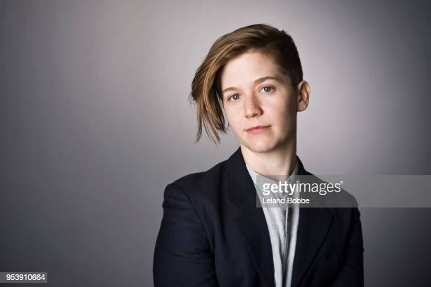studio portraits of non-binary androgynous looking person - androgynous stock pictures, royalty-free photos & images