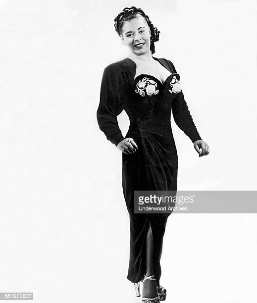 A studio promotional photo of blues singer Billie Holiday 1936