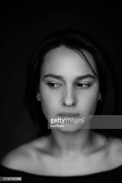 Studio session of the italian actress Ileana D'Ambra protagonist of the new movie 'Bad Tales'directed by Innocenzo brothers winner of the Silver Bear...