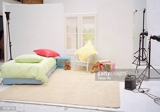 A studio set of a child's bedroom