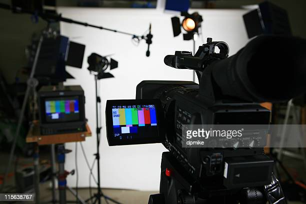 studio setup 4 with video camera - performing arts event stock pictures, royalty-free photos & images