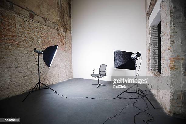 Studio-Aufnahmen von Bürostuhl