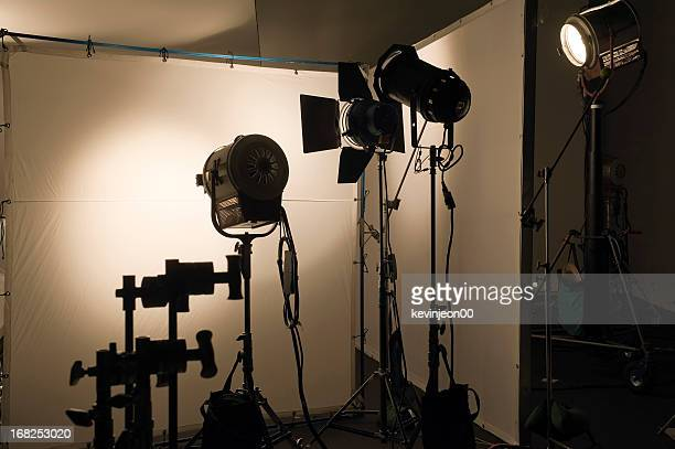 studio shooting set - spotlight film stock photos and pictures