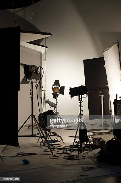 studio shooting set - filmen stockfoto's en -beelden