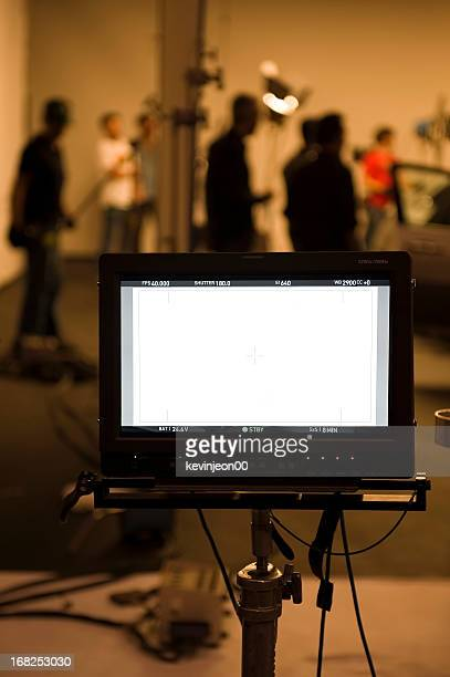 studio shooting set with monitors - stage set stock pictures, royalty-free photos & images