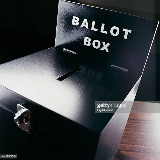 studio shot of a ballot box - ballot box stock pictures, royalty-free photos & images