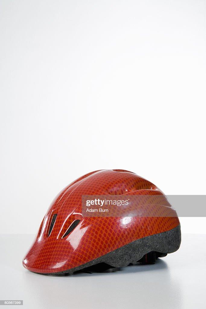 Studio shot of a bicycle helmet : Stock Photo