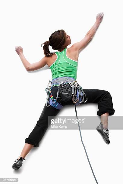 Studio Shot of a woman climber