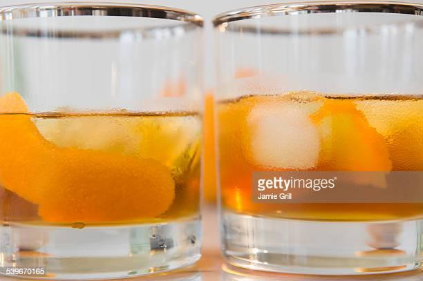 Studio shot of alcoholic drinks