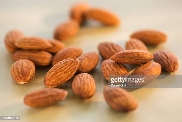 Studio Shot of almonds