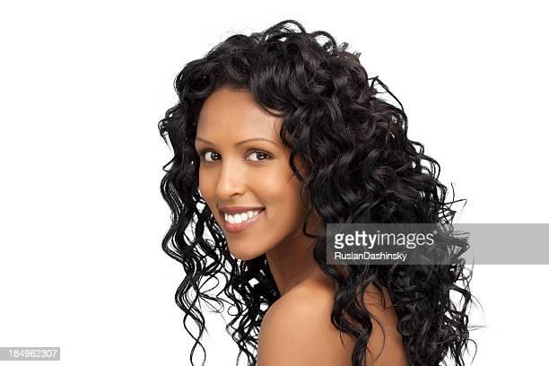 Studioaufnahme von schöne junge Schwarze Frau