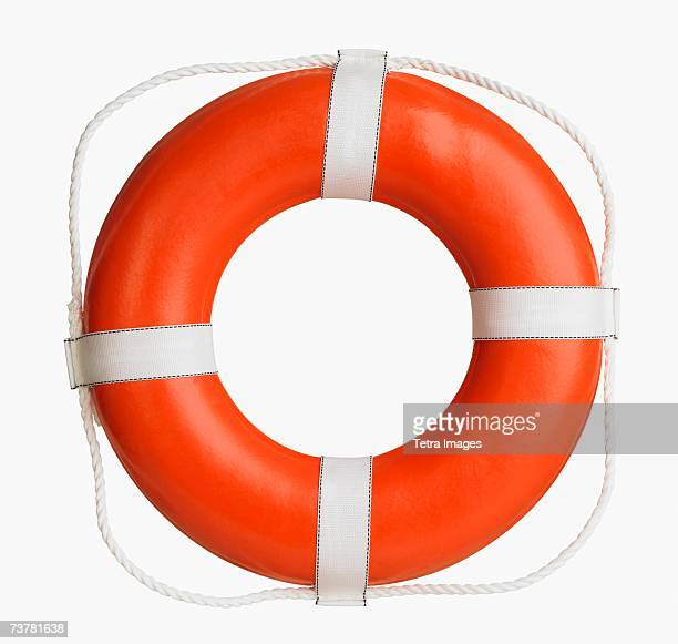 Studio shot of boat life preserver