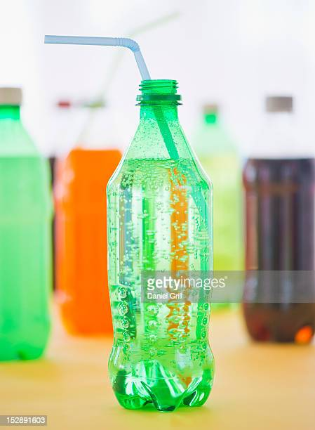 Studio shot of bottles with beverages