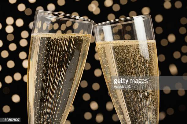 Studio shot of champagne flute