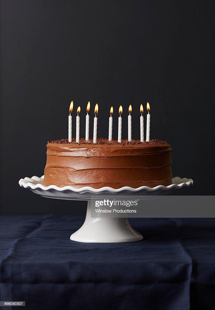 Outstanding Studio Shot Of Chocolate Birthday Cake High Res Stock Photo Birthday Cards Printable Trancafe Filternl