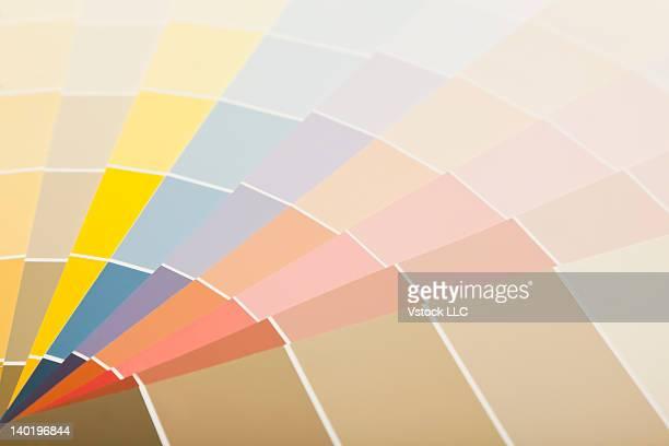Studio shot of color samples