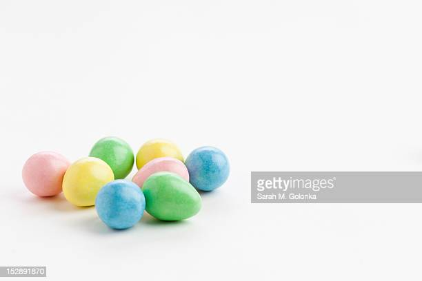 Studio shot of colorful eggs