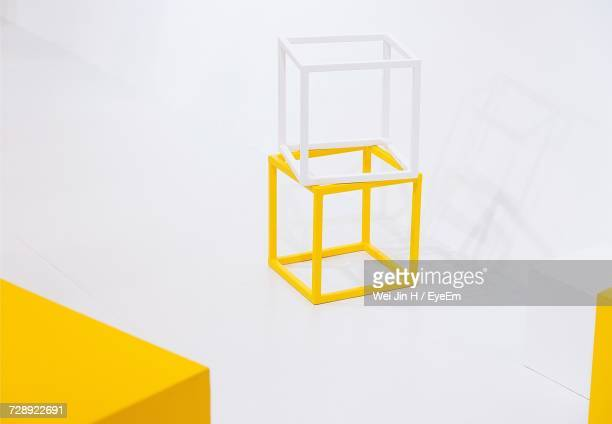 studio shot of cubes - cube shape stock pictures, royalty-free photos & images