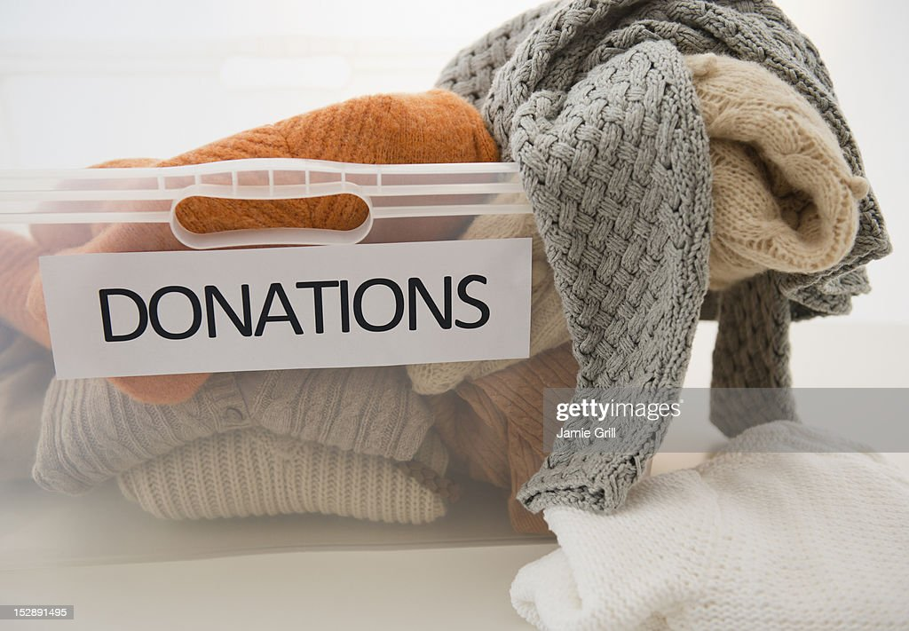 Studio Shot of donation box : Stock Photo