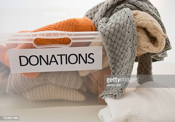 studio shot of donation box - donation stock photos and pictures